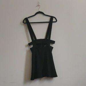 UO sparkle and fade black dress